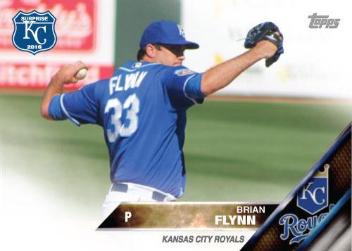 Brian Flynn 2016 Spring Training Kansas City Royals custom card