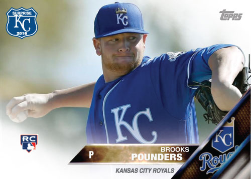Brooks Pounders 2016 Spring Training Kansas City Royals custom card