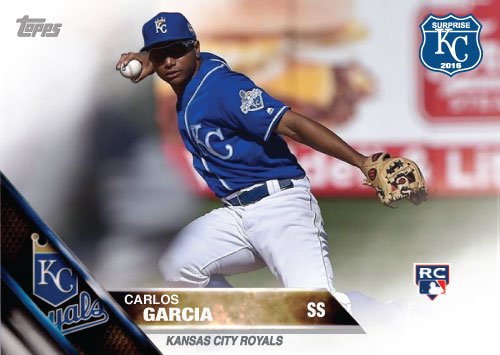 Carlos Garcia 2016 Spring Training Kansas City Royals custom card