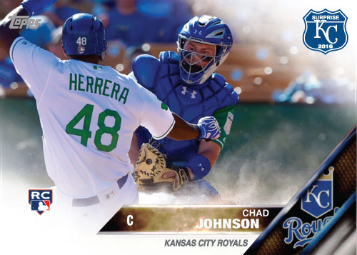 Chad Johnson 2016 Spring Training Kansas City Royals custom card