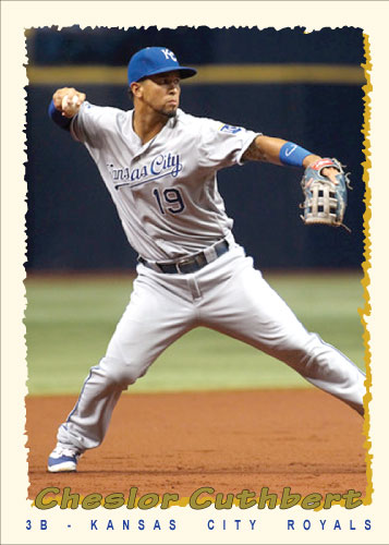 Cheslor Cuthbert 1995 Topps custom card