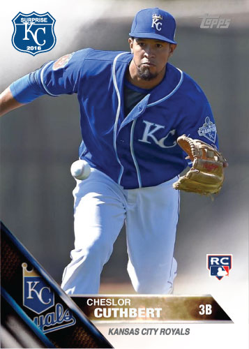 Cheslor Cuthbert 2016 Spring Training Kansas City Royals custom card