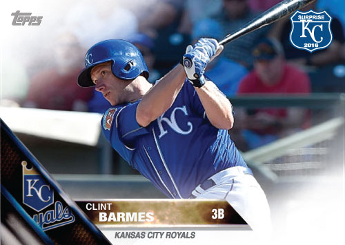 Clint Barmes 2016 Spring Training Kansas City Royals custom card