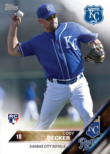 Cody Decker 2016 Spring Training Kansas City Royals custom card
