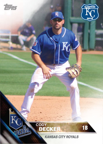 Cody Decker 2016 Spring Training Kansas City Royals custom card