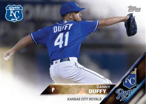 Danny Duffy 2016 Spring Training Kansas City Royals custom card