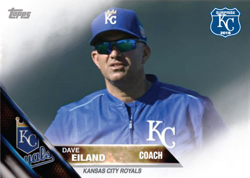 Dave Eiland 2016 Spring Training Kansas City Royals custom card