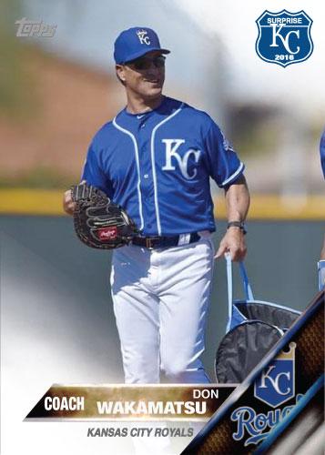 Don Wakamatsu 2016 Spring Training Kansas City Royals custom card