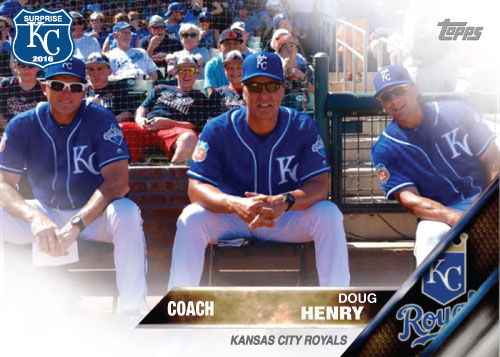 Doug Henry 2016 Spring Training Kansas City Royals custom card