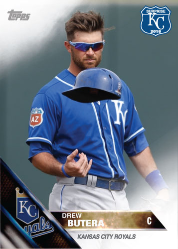 Drew Butera 2016 Spring Training Kansas City Royals custom card