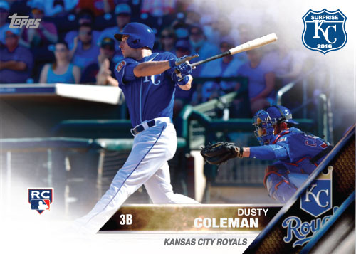 Dusty Coleman 2016 Spring Training Kansas City Royals custom card