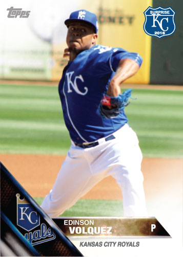 Edinson Volquez 2016 Spring Training Kansas City Royals custom card