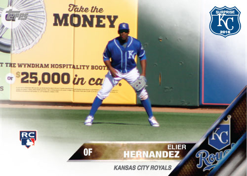 Elier Hernandez 2016 Spring Training Kansas City Royals custom card