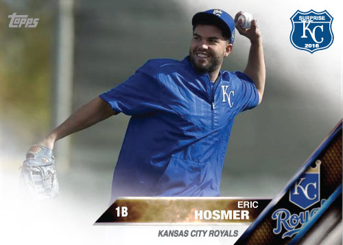 Eric Hosmer 2016 Spring Training Kansas City Royals custom card