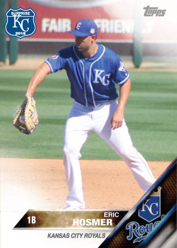 Eric Hosmer 2016 Spring Training Kansas City Royals custom card
