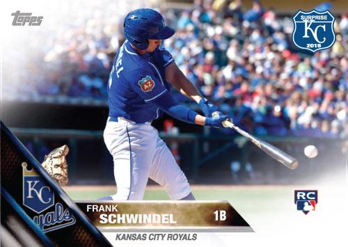 Frank Schwindel 2016 Spring Training Kansas City Royals custom card