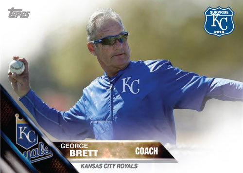 George Brett 2016 Spring Training Kansas City Royals custom card