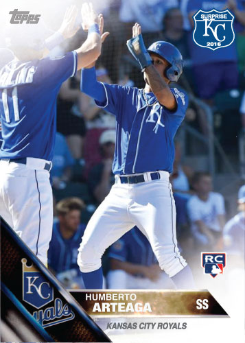 Humberto Arteaga 2016 Spring Training Kansas City Royals custom card