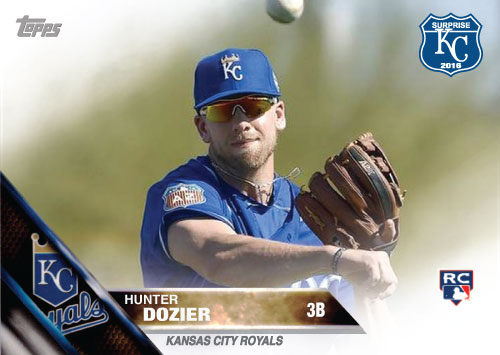 Hunter Dozier 2016 Spring Training Kansas City Royals custom card