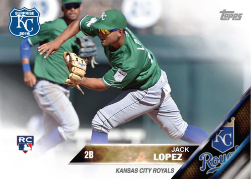 Jack Lopez 2016 Spring Training Kansas City Royals custom card
