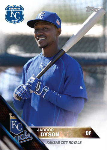 Jarrod Dyson 2016 Spring Training Kansas City Royals custom card