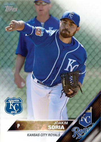 Joakim Soria 2016 Spring Training Kansas City Royals custom card