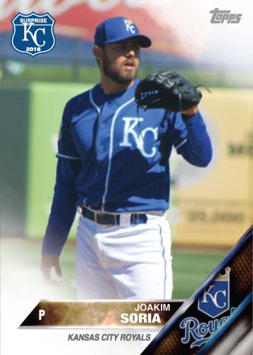 Joakim Soria 2016 Spring Training Kansas City Royals custom card