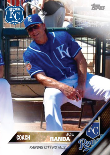 Joe Randa 2016 Spring Training Kansas City Royals custom card