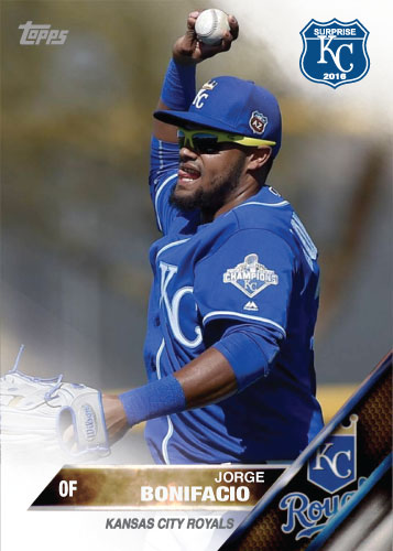 Jorge Bonifacio 2016 Spring Training Kansas City Royals custom card