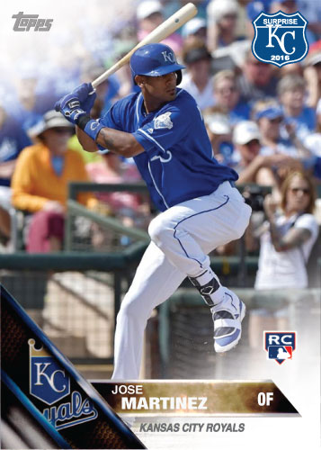 Jose Martinez 2016 Spring Training Kansas City Royals custom card