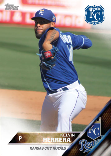 Kelvin Herrera 2016 Spring Training Kansas City Royals custom card