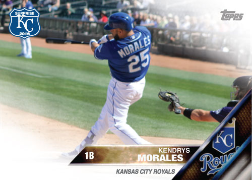 Kendrys Morales 2016 Spring Training Kansas City Royals custom card
