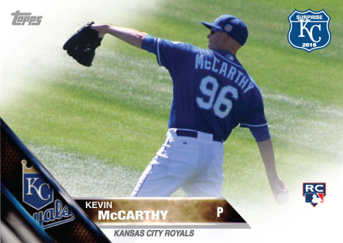 Kevin McCarthy 2016 Spring Training Kansas City Royals custom card