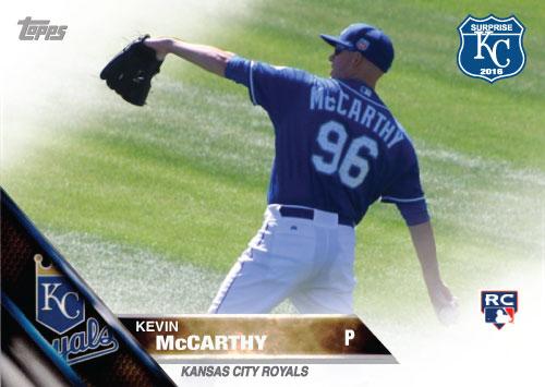 Kevin McCarthy 2016 Spring Training Kansas City Royals custom card