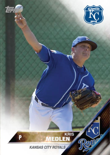 Kris Medlen 2016 Spring Training Kansas City Royals custom card