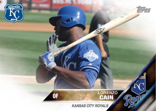 Lorenzo Cain 2016 Spring Training Kansas City Royals custom card