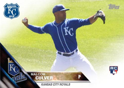 Malcom Culver 2016 Spring Training Kansas City Royals custom card
