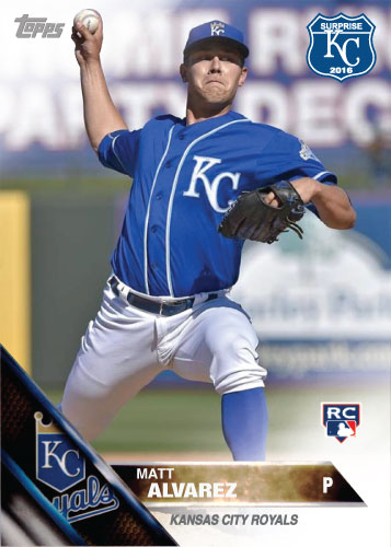 Matt Alvarez 2016 Spring Training Kansas City Royals custom card