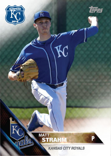 Matt Strahm 2016 Spring Training Kansas City Royals custom card