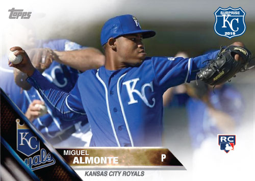 Miguel Almonte 2016 Spring Training Kansas City Royals custom card