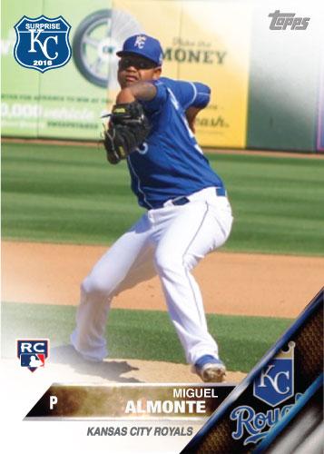 Miguel Almonte 2016 Spring Training Kansas City Royals custom card