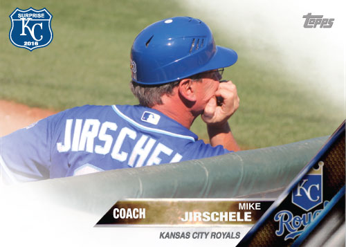 Mike Jirschele 2016 Spring Training Kansas City Royals custom card