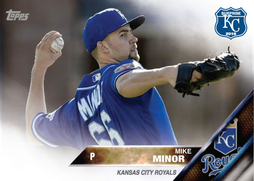 Mike Minor 2016 Spring Training Kansas City Royals custom card