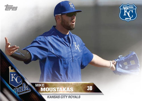 Mike Moustakas 2016 Spring Training Kansas City Royals custom card