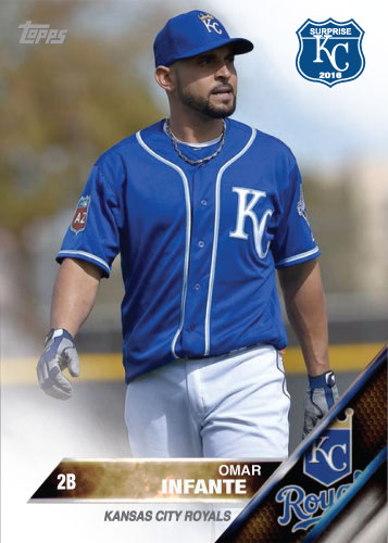Omar Infante 2016 Spring Training Kansas City Royals custom card