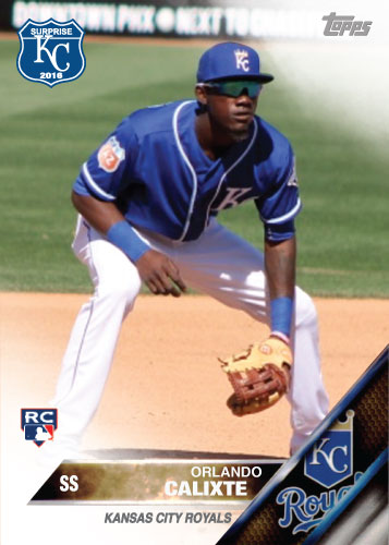 Orlando Calixte 2016 Spring Training Kansas City Royals custom card