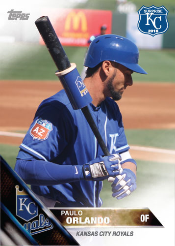 Paulo Orlando 2016 Spring Training Kansas City Royals custom card