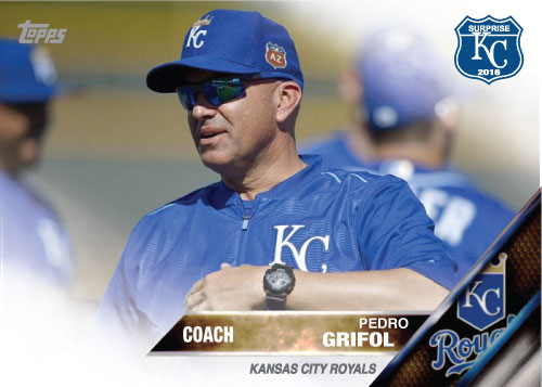 Pedro Grifol 2016 Spring Training Kansas City Royals custom card