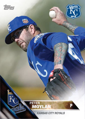 Peter Moylan 2016 Spring Training Kansas City Royals custom card