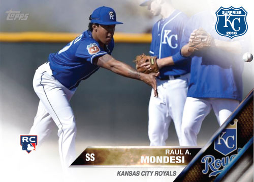 Raul Mondesi 2016 Spring Training Kansas City Royals custom card